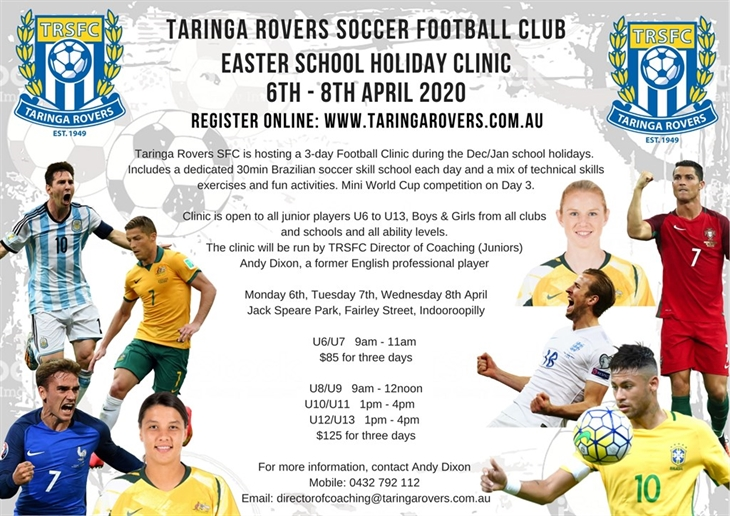 2020  Easter  School  Holiday  Clinic